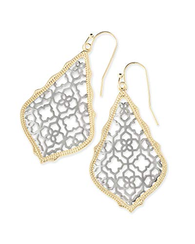 Kendra Scott Addie Drop Earrings for Women in Mixed Metal Filigree, Fashion Jewelry, 14k Gold-Plated and Rhodium-Plated