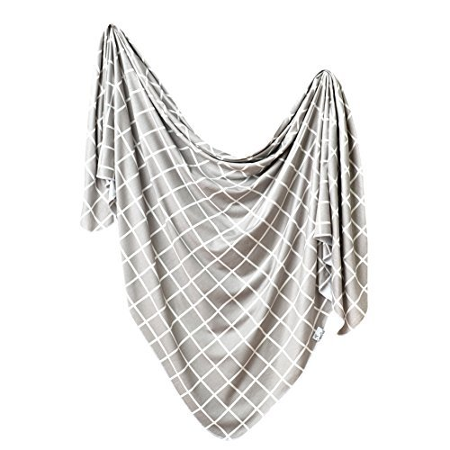 """Large Premium Knit Baby Swaddle Receiving Blanket""""Midway"""" by Copper Pearl"""