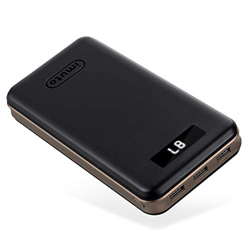 Portable Charger 30000mAh iMuto Power Bank X6 USB External Battery Pack Android Cell Phone 3-Port 3.4A Output Fast Charging for iPhone 11 Pro Max, 8 Plus, Samsung Galaxy S10, iPad, Nintendo Switch