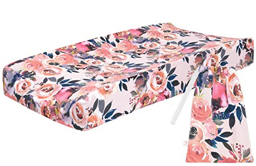 Posh Peanut Baby Changing Pad Cover Stretchy Bamboo Viscose, for Standard 16″ by 32″ – Dusk Rose