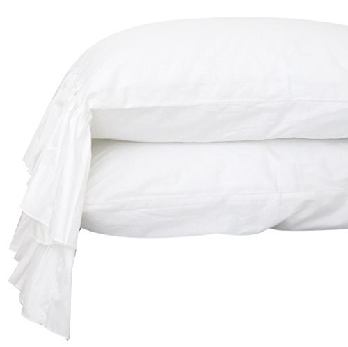 Queen's House White Pillowcases Queen Size Set of 2-Style G