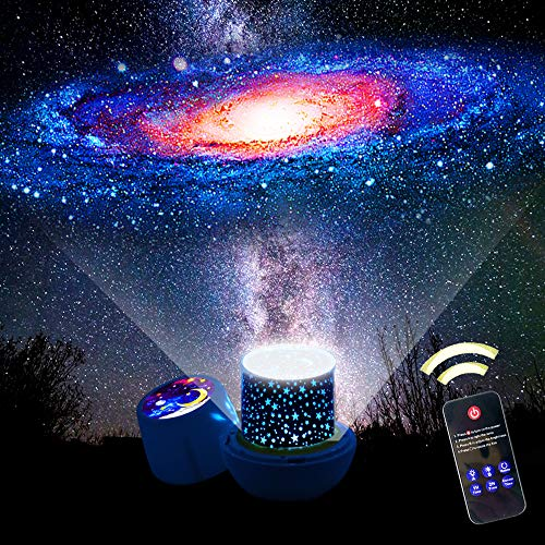 Star Night Lights for Kids, Remote Control Star Projector, with LED Timer, 360°Rotating Planet Night Lighting Lamps Sky Galaxy Constellation Projection for Baby Bedrooms (Remote Flim-6 Set)