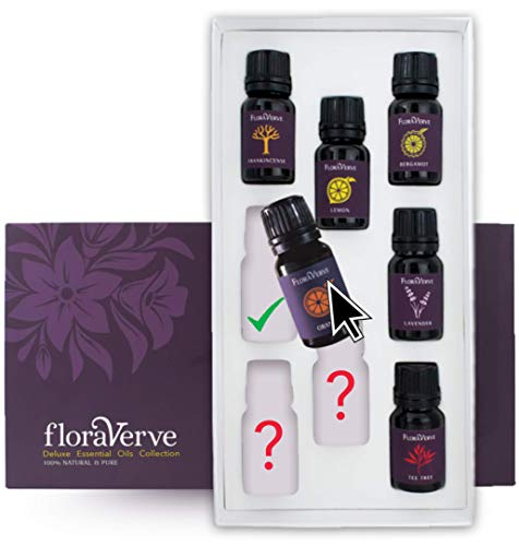 floraVerve Essential Oils Customized Set, Build Your Own Collection, All Natural & 100% Pure Aromatherapy Essential Oils, NO More Pre-Set Collection – Pick Only Those You Like! (8x10mL)