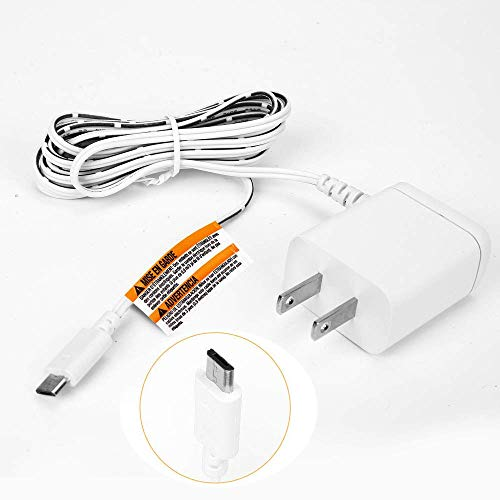 for Motorola Baby Monitor Charger Power Cord, Replacement Adapter Supply Compatible with Parent Unit MBP33S MBP36S MBP36XL MBP38S MBP41S MBP43S MBP843 MBP853 MBP854 MBP855 ONLY Micro USB Plug DC 5.0